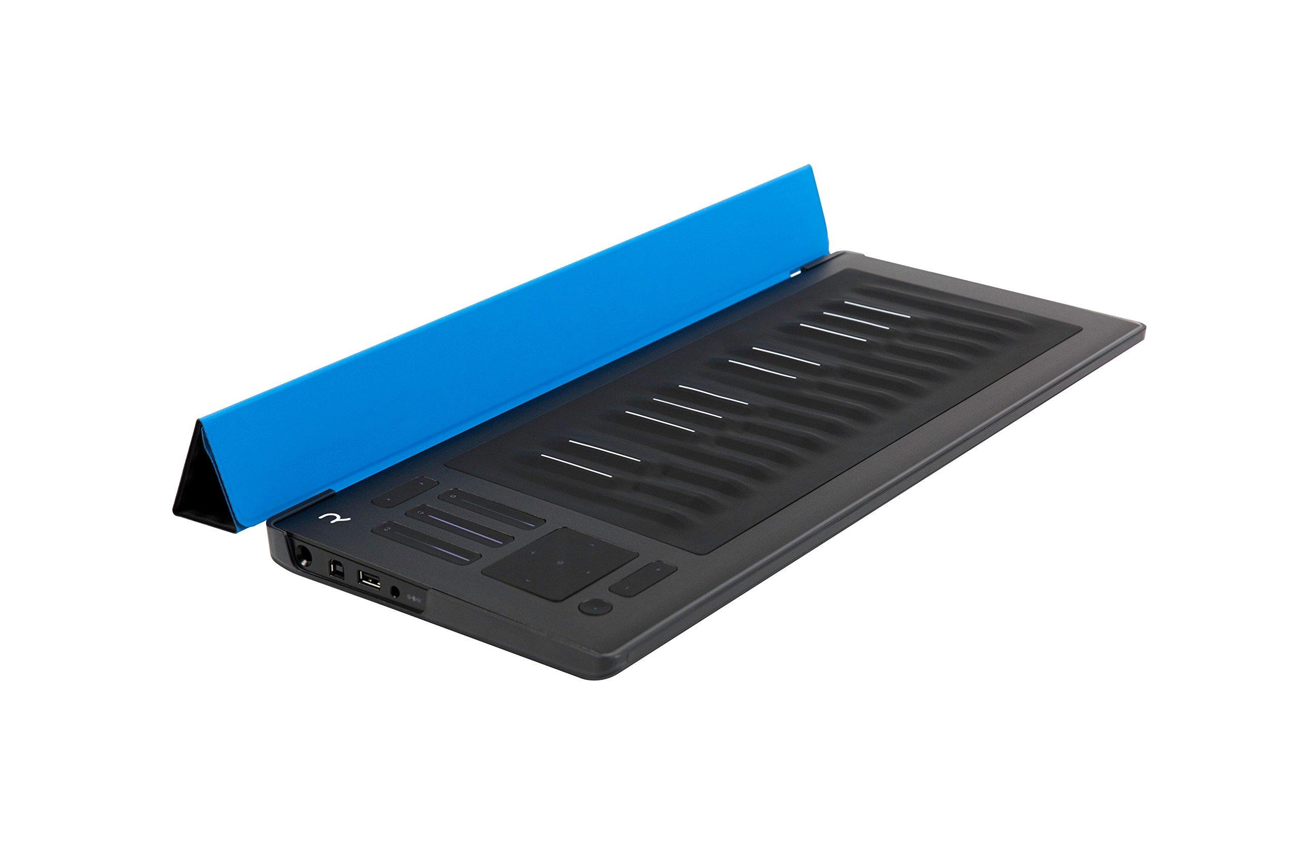 ROLI Seaboard RISE 25 MIDI Controller with Flip Case in Sky Blue