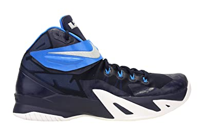 Nike Mens Zoom Soldier VIII TB Basketball Shoes Midnight Navy/Photo Blue  653648-405