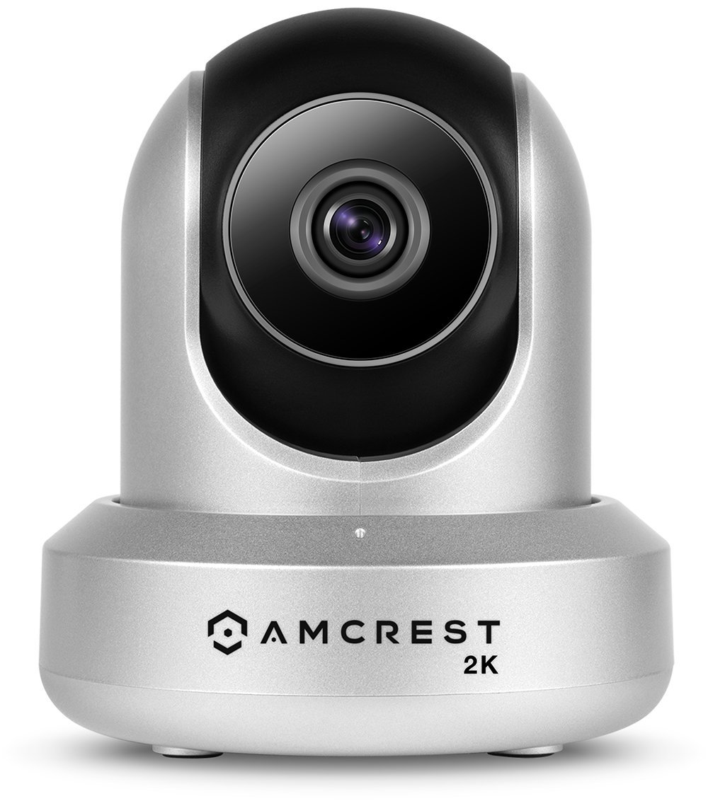 Amcrest UltraHD 2K WiFi Camera 3MP Security Wireless IP Camera with Pan/Tilt, Dual Band 5ghz/2.4ghz, Two-Way Audio, Wide 90° Viewing Angle and Night Vision IP3M-941S (Silver)