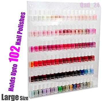 Outstanding Home It Nail Polish Rack Nail Polish Organizer Holds Up To 102 Bottles Great Nail Polish Holder Nail Polish Interior Design Ideas Tzicisoteloinfo