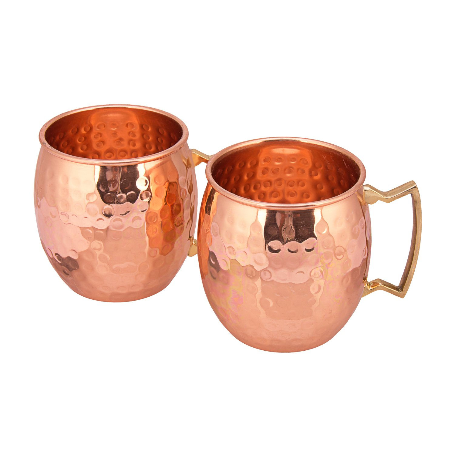 TREETOP Copper Mugs (Set of 2) | PREMIUM QUALITY |475 ML|Solid Copper Moscow Mule, Hammered Finish, Extra Shine | 100% Genuine Product | Wonted