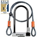 Kryptolok Standard U-Lock With 4 Foot Kryptoflex Cable - Sold Secure Gold