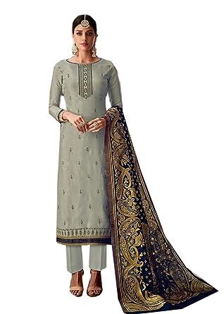 c639fdfe7f BKRKJ Women's Pure Uppada Silk Fabric Unstitched Dress Material   Bridal  Wedding Wear Exclusive Heavy Hand