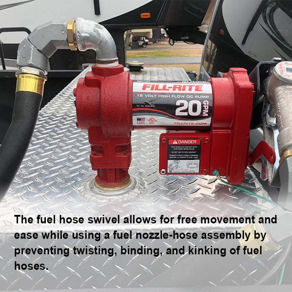 1 Inch Fuel Hose Swivel 360 Rotating Connector for Fuel Nozzle Multi Plane Fuel Plane Swivel