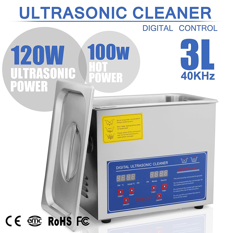 CiaoVasco 3L Pulitore Ad Ultrasuoni Display Digitale Ultrasuoni Bagno Ultrasuoni Dispositivo Con Timer Digitale 3L