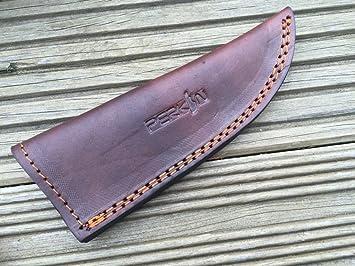 Funda de cuero para caza/cuchillo Bushcraft: Amazon.es ...