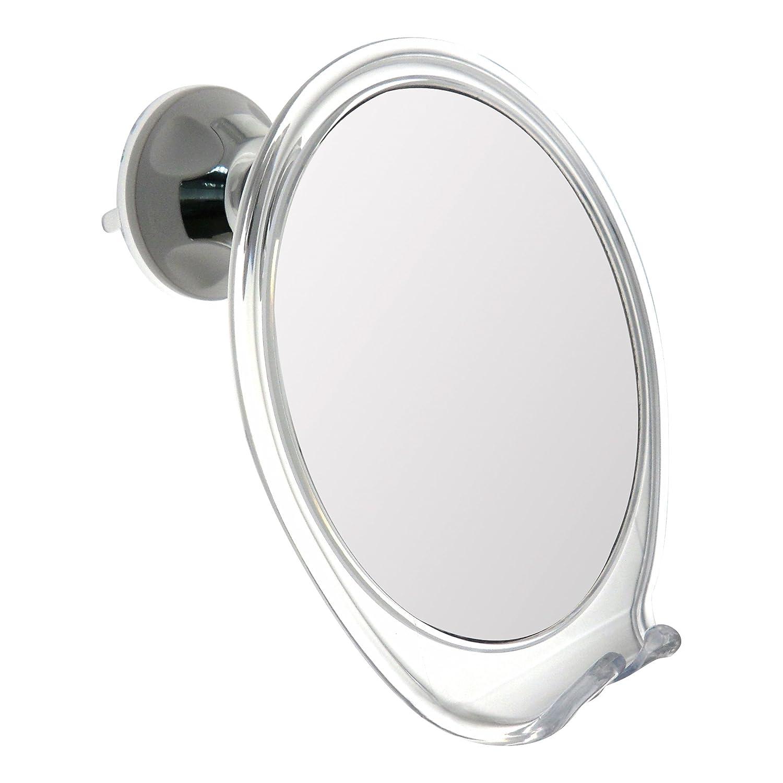 Adjustable Fog Free Shower Shaving Mirror Plus Razor Holder From