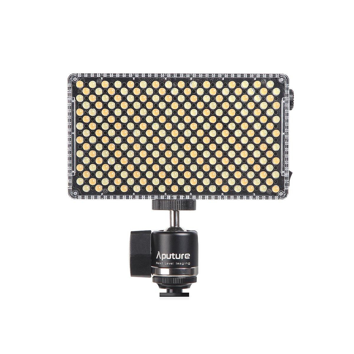 Aputure Amaran AL-F7 3200-9500K CRI/TLCI 95 LED panel LED video camera light (Aputure H198 Upgrade Version) with DigiKit cleaning cloth