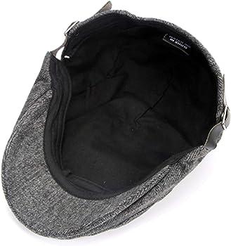 ZaYang Mens Warm Wool Tweed Newsboy Cap Gatsby Flat Ivy Cabbie Driving Winter Hat