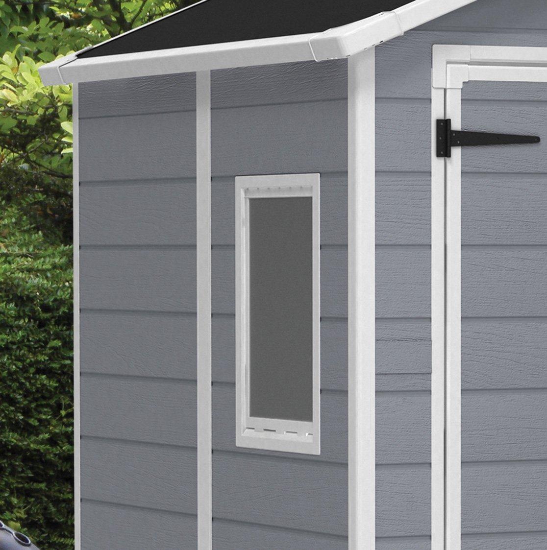 Keter - Caseta de jardín exterior Manor 6x8 DD, Color gris: Amazon.es: Jardín