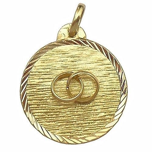 Medalla oro 18K alianzas del amor. Diámetro: 20mm.. Reasa ...