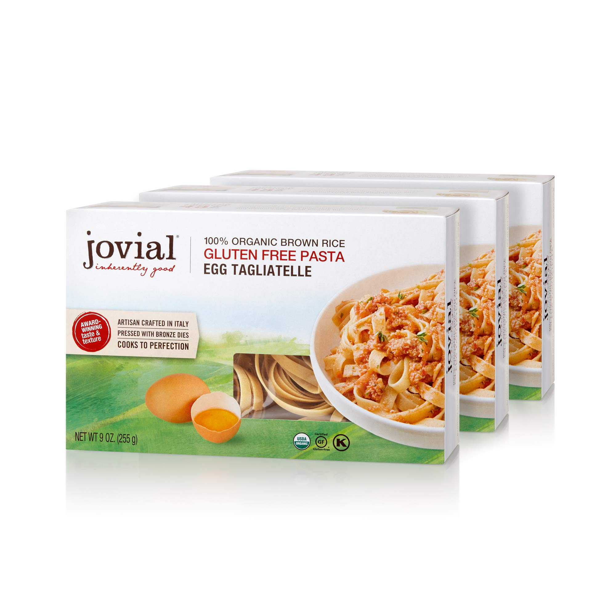 Jovial 100% Organic Gluten Free Brown Rice Pasta, Tagliatelle, 4 Count by Jovial
