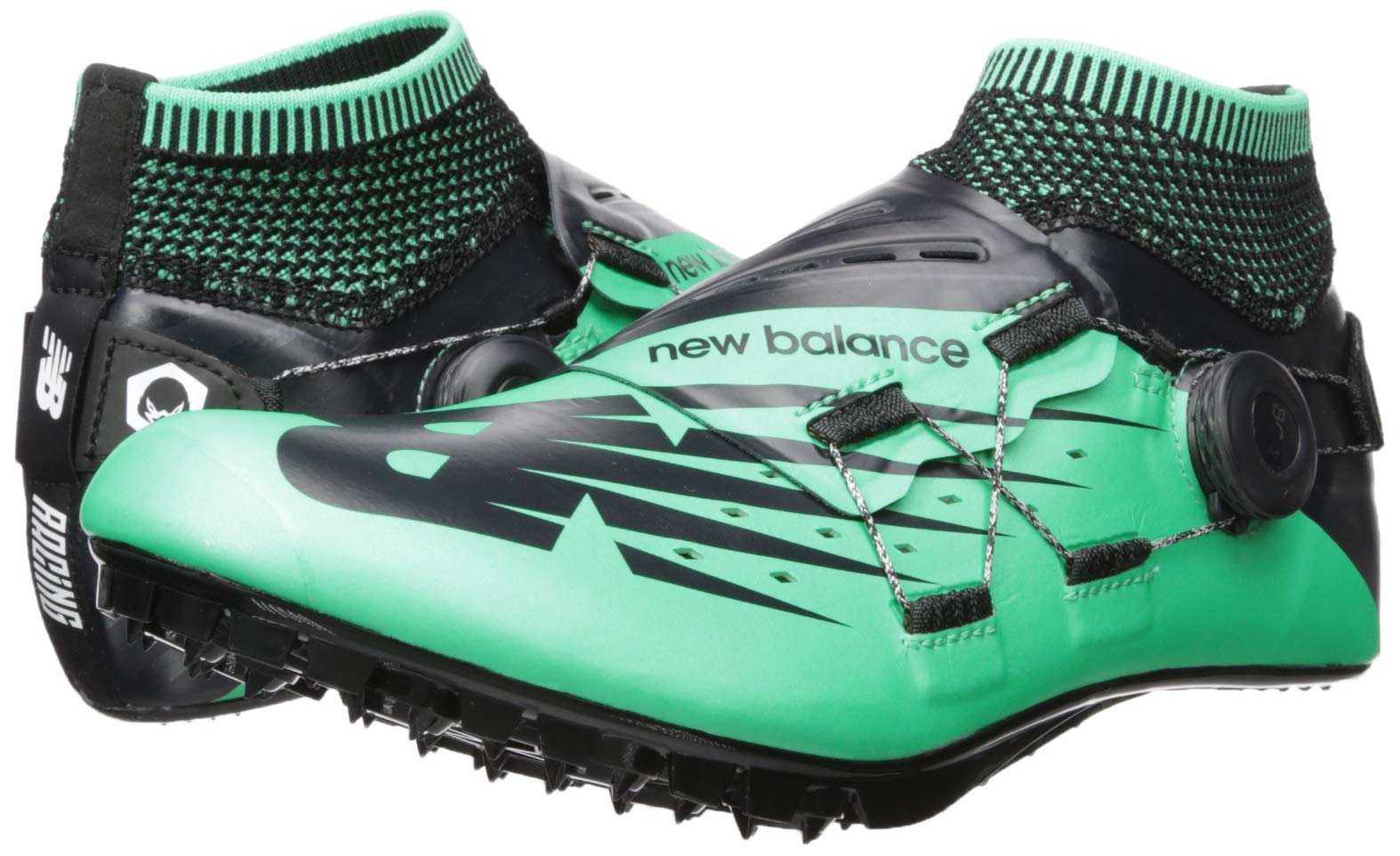 New Balance Men's Sigma V2 Vazee Track Shoe neon Emerald/Black 6 D US by New Balance (Image #6)