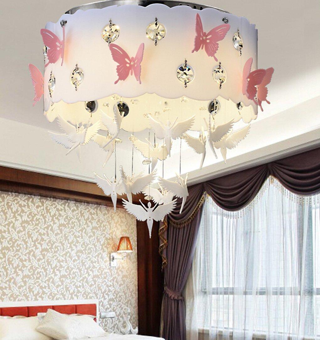 LVYI Schlafzimmerlampe Mädchen Pink Lampe Kinderlampe Rosa ...
