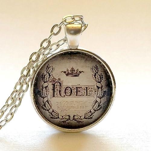 Amazon.com: Noel Necklace   Glass Pendant   Christmas Gift Ideas ...