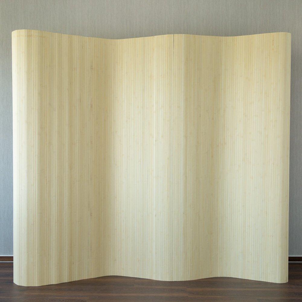Homestyle4u 303 Peking Paravent Raumteiler Trennwand aus Bambus in