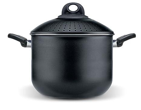 Pensofal Biostone Olla coladora, Aluminio, Negro, 24 cm: Amazon.es: Hogar