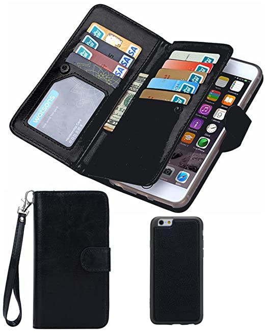 new concept 7499e 39c29 Prime Sale Day Deals Week Sale 2019-iPhone 8 Wallet case,iPhone 7 Wallet  Case,Valentoria Premium Vintage Leather Wallet Case Magnetic Detachable  Slim ...