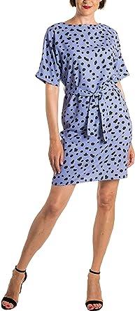 Delfina Blue Vestido Leopardo Azul Para Mujer Ropa Para Mujeres Altas Amazon Es Ropa Y Accesorios