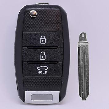 – Llave Carcasa Llave Mando a distancia Auto Llave 3 Teclas en blanco para Kia