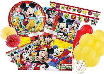Irpot Kit N 54 Coordinato Tavola Topolino Mickey Mouse Disney Addobbi Festa Amazon It Giochi E Giocattoli