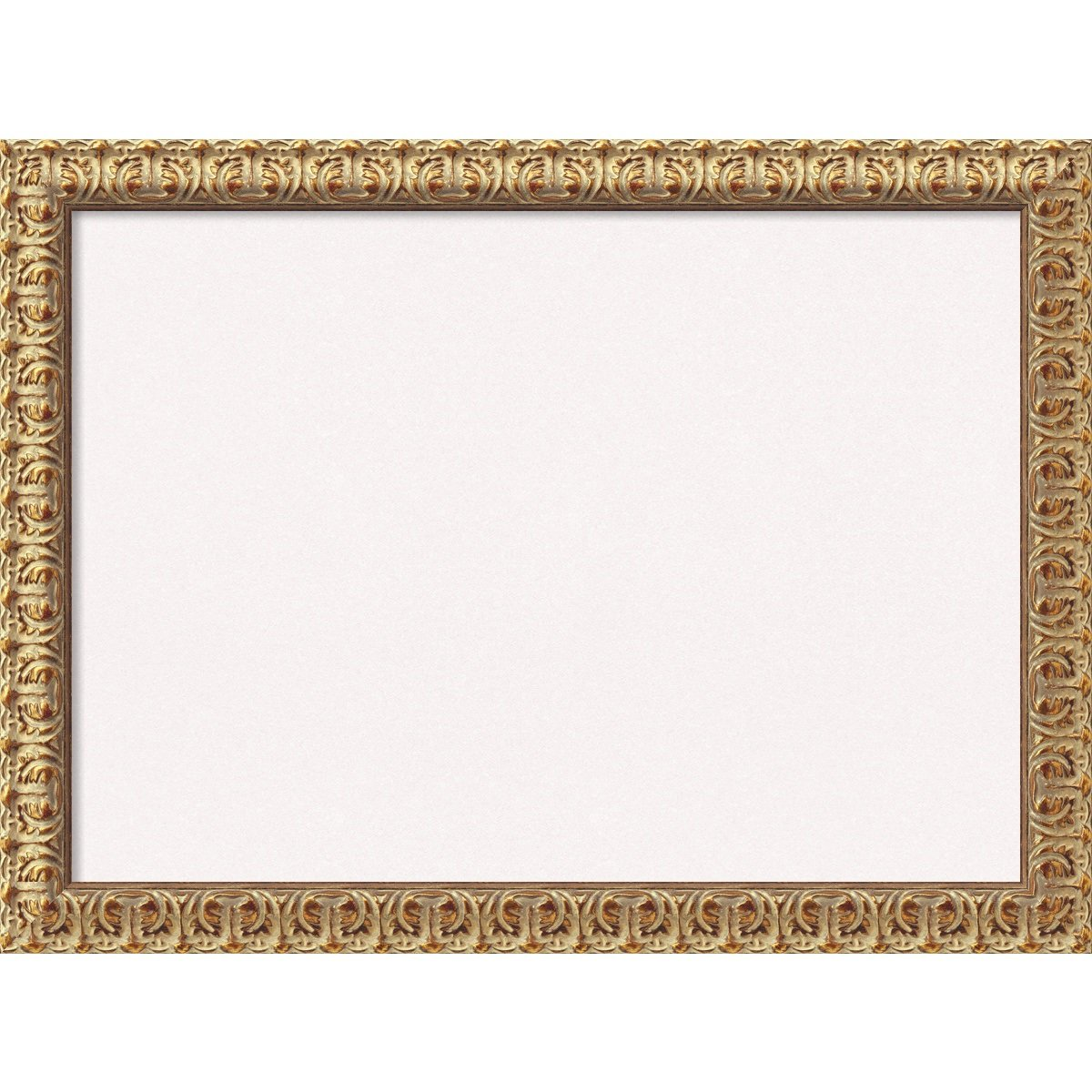Amanti Art Framed White Cork Board Florentine Gold: Outer Size 32 x 24'', Large