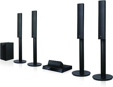 LG LHA755 - Equipo de Home Cinema con subwoofer (5.1, 1000 W, 3D, BLU-Ray, Bluetooth), Color Negro: Amazon.es: Electrónica