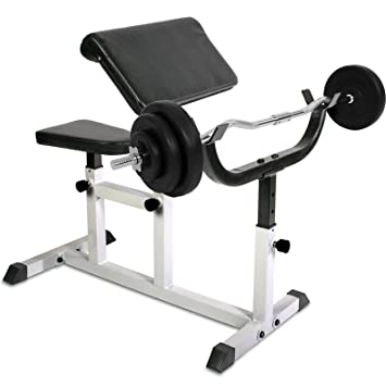 Physionics - Banc de Musculation Pupitre à Biceps avec Set d Haltère (Set au 5b62abb5f0b