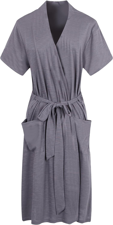 Richie House Women's Short Sleeve Cotton Bathrobe Robe Size XS-XL RHW2753