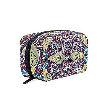 2ecda3a4c7fb Amazon.com : ALAZA Ethnic Elements Makeup Case Bag Appropriate ...