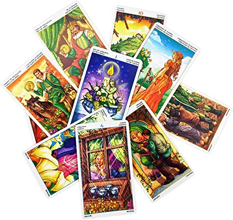 rosemaryrose 78 Tarot Cards, Tarjetas Juego De Cartas con Caja para Principiantes, Rueda del Año Leer Carta del Tarot del Destino para Uso Personal: Amazon.es: Hogar