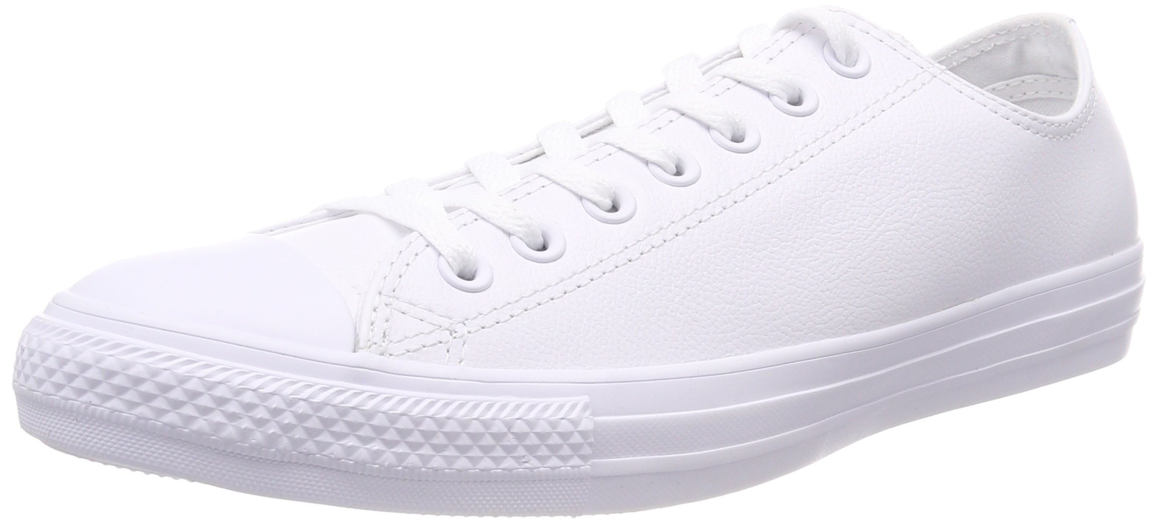 338975557dfb4 Converse Unisex Chuck Taylor All Star Ox Low Top Classic White Leather  Sneakers - 12.5 B(M) US Women / 10.5 D(M) US Men
