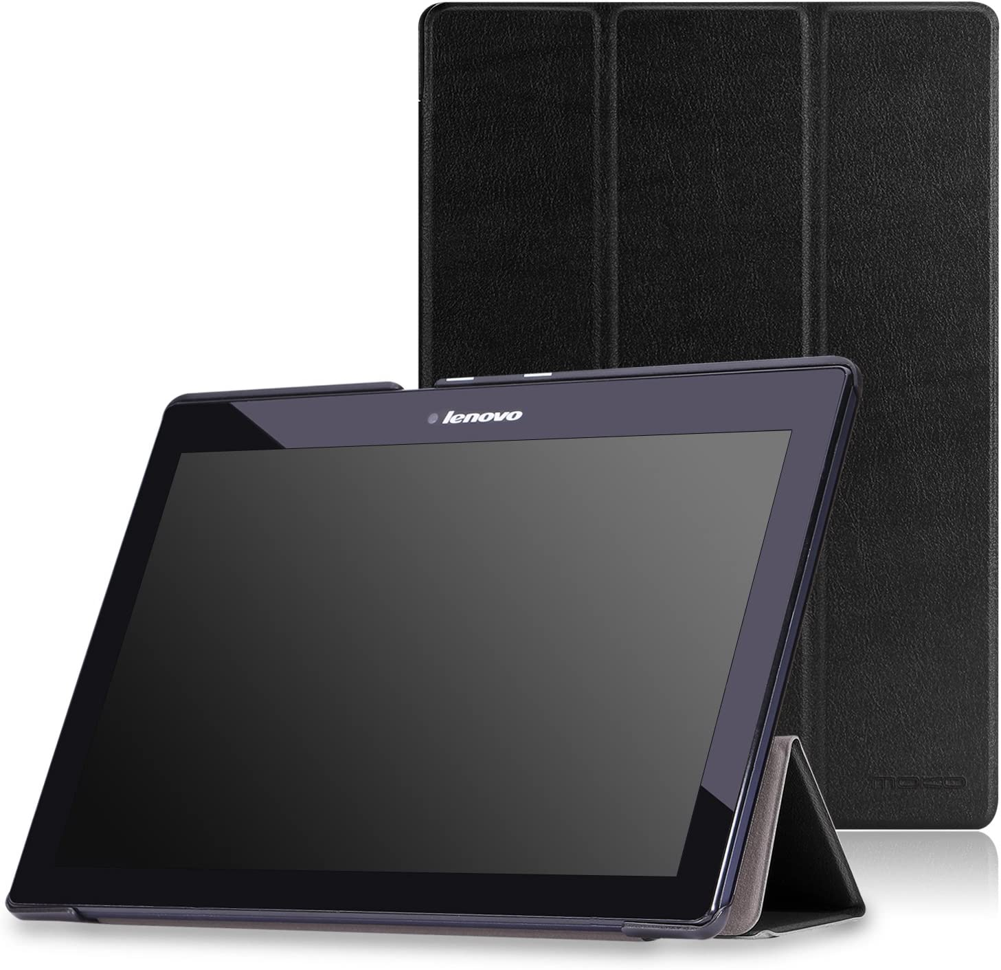 MoKo Lenovo Tab2 A10-70 Case - Ultra Lightweight Smart Slim Shell Stand Cover Case for Lenovo Tab 2 A10-70, Tab 10(TB-X103F) 10.1 inch Tablet, Black
