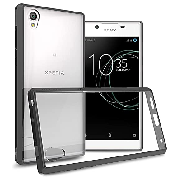 newest 376cf 0f704 Sony Xperia L1 Case, CoverON [ClearGuard Series] Hard Clear Back Cover with  Flexible TPU Bumpers Slim Fit Phone Cover Case for Sony Xperia L1 - Clear  ...