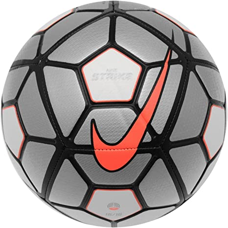 Nike Strike Blanco/Plata de Fútbol Balón de fútbol 15/16: Amazon ...
