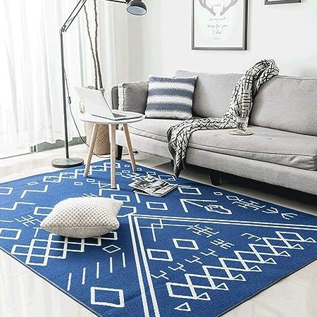 Alfombras Nylon Azul Zafiro Geométrico Marroquí Sala ...