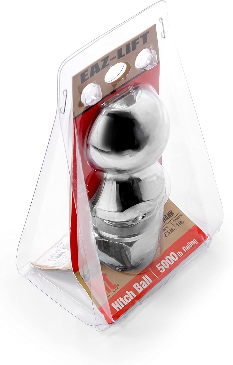 Chrome Plated Heavy Duty Steel Eaz-Lift 48222 2 Hitch Ball with 1 Shank 5,000 lb Rating