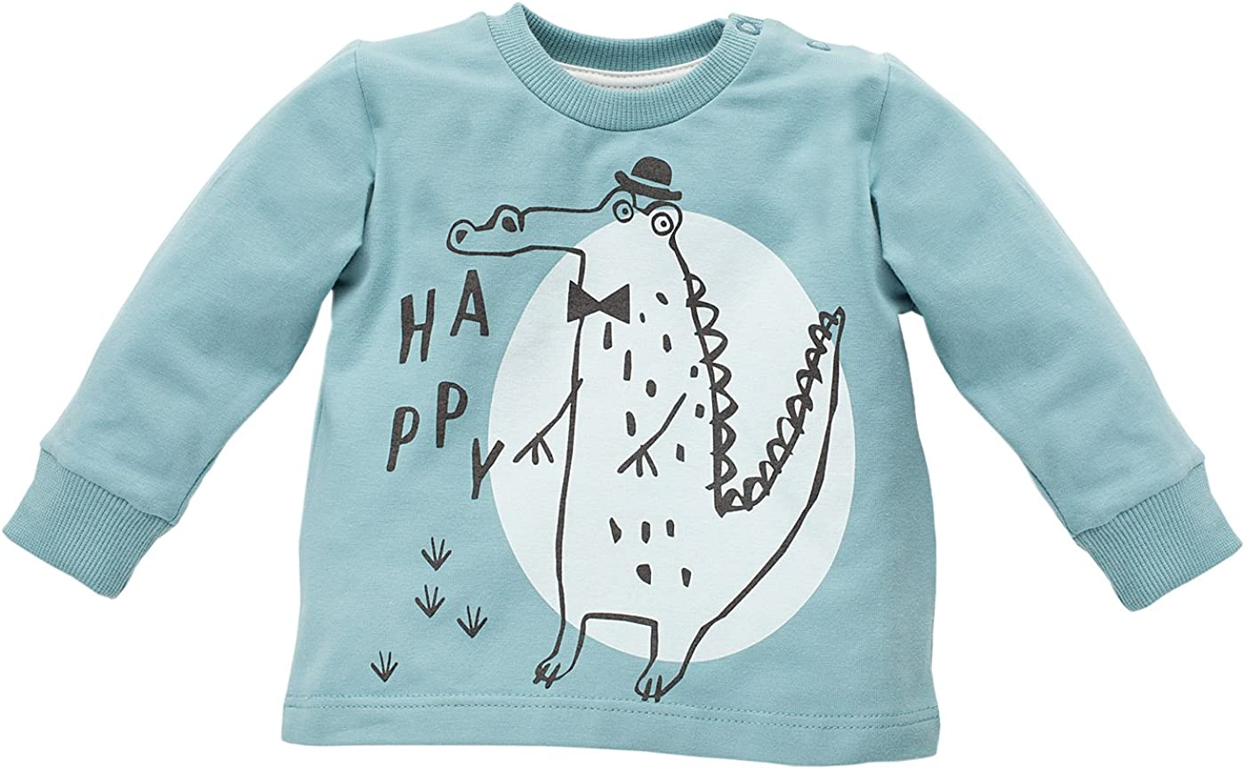 Baby M/ädchen Jungen Langarmshirt 100/% Baumwolle Shirt Langarm Leichter Pullover T/ürkis mit Krokodil Pinokio Leon