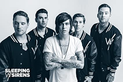 amazon com 24x36 poster print sleeping with sirens group posters