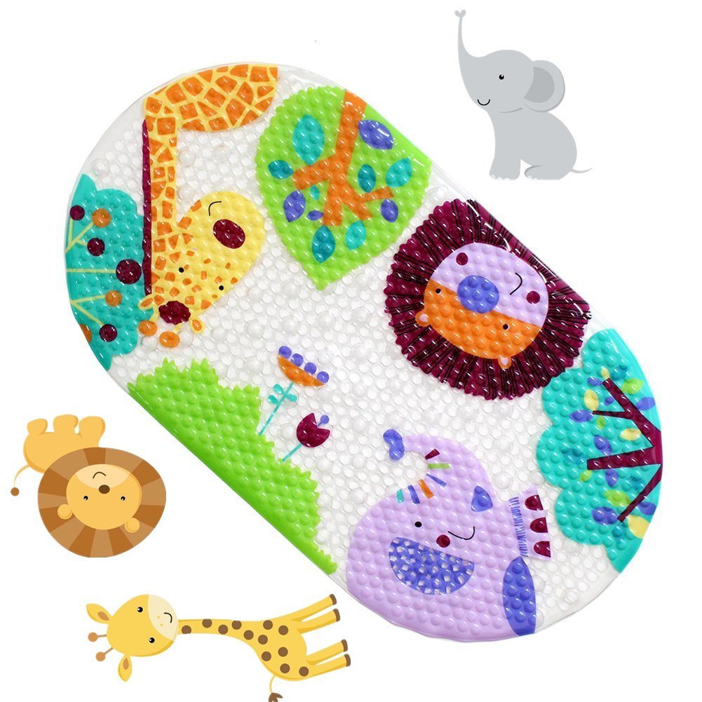 Anlass Kids Cartoon Non Slip Mats Mildew Resistant Non Slip Mats for Children Frog