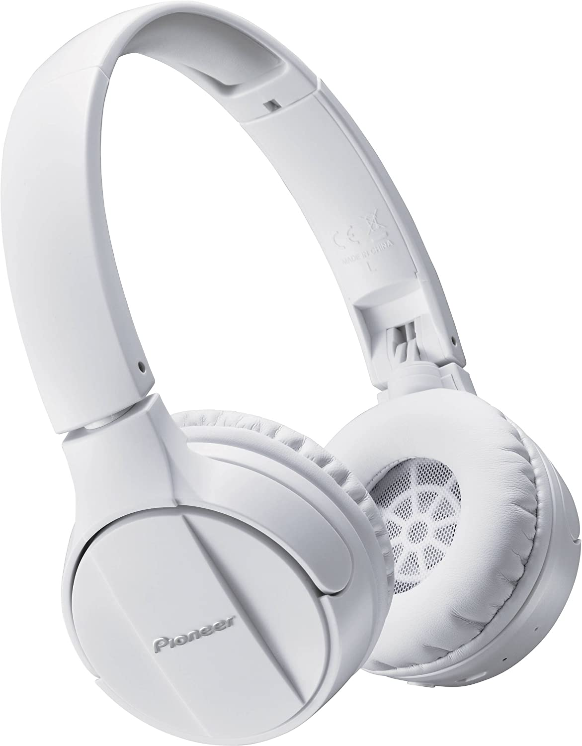 Pioneer SE-MJ553BT-W - Auriculares inalámbricos Bluetooth externos para smartphones Android, Windows y Apple, estéreo, con micrófono, 10 Hz a 22000 Hz, Blanco