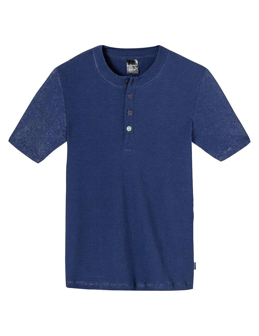 Schiesser Jungen Schlafanzugoberteil Shirt 1/2 Mix & Relax Gr. 140 Blau (blau 800) Schiesser AG 146027