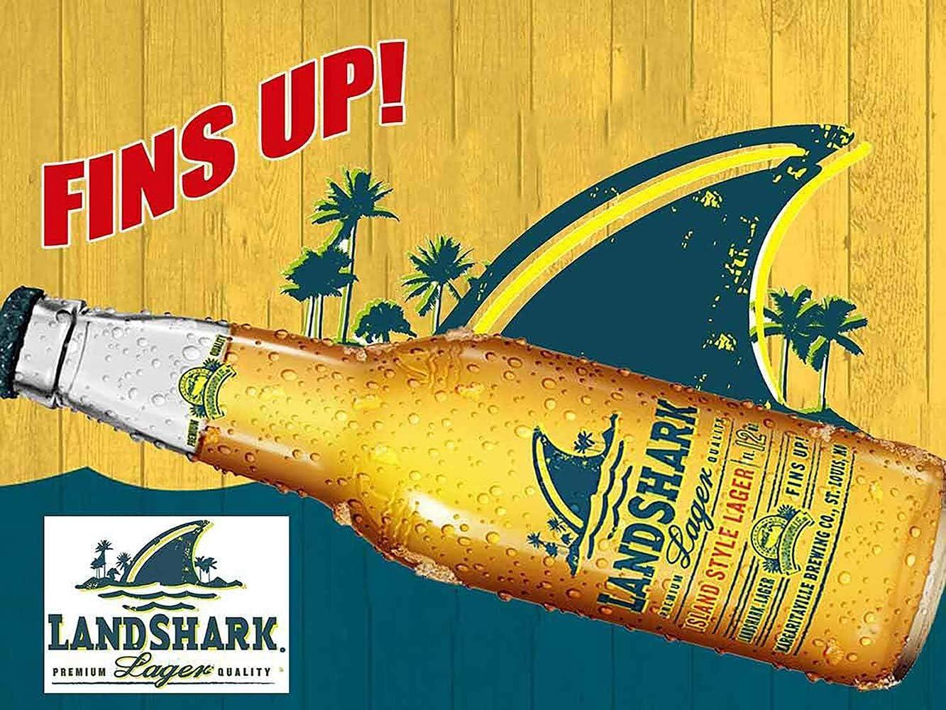 OM Signs Landshark Lager-Fins Up Beer Advertisement Sign