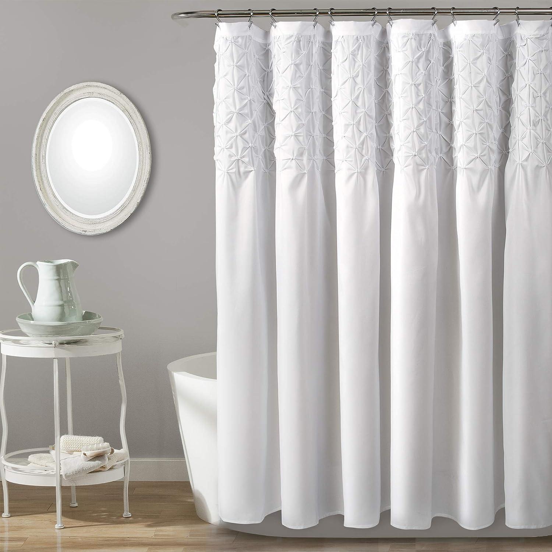 Lush Decor, Bleach White Bayview Shower Curtain, 72