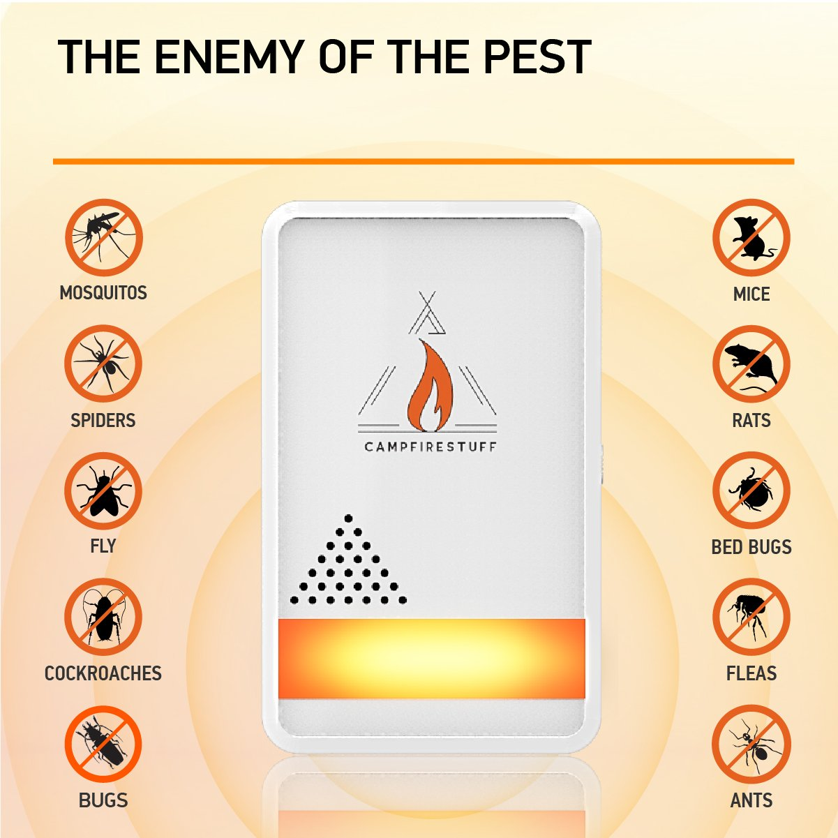 Campfire Stuff New 4 Pack Ultrasonic Pest Repeller Mosquito Repellent Circuitbest Repellentindoor Electronic Ultrasound Indoor Plug In Anti Mice Insects Bugs Ants Mosquitos Rats Spiders Roaches