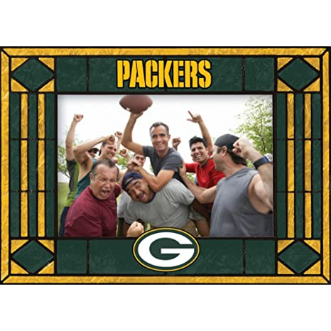 Amazon.com : Green Bay Packers Art Glass Horizontal Frame : Home ...