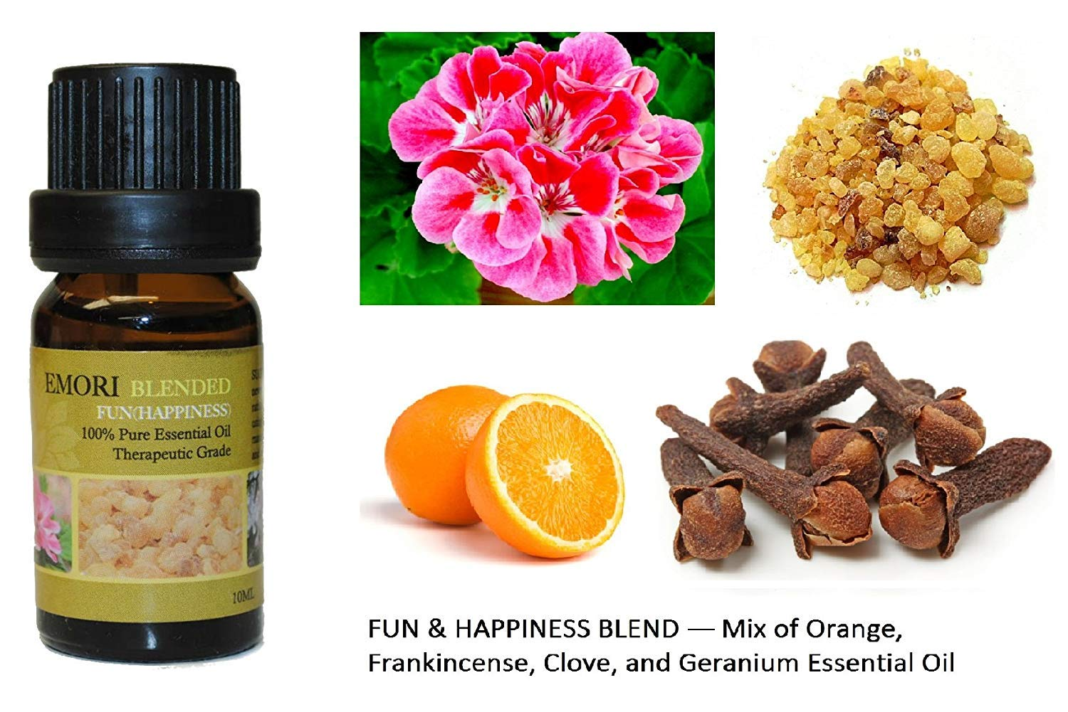 Fun & Happiness - 100% Pure Therapeutic Grade Essential Oil 10ML (Blended) by EMORI B01BCWFXZG