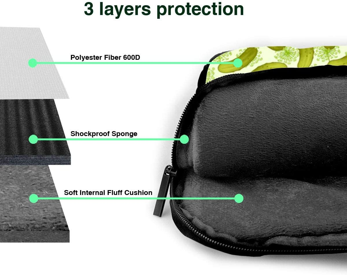 Sushi Dill Pickles Printed Laptop Shoulder Bag,Laptop case Handbag Business Messenger Bag Briefcase