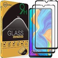 Jasinber 2-Pack Mica Vidrio Cristal Templado Protector de Pantalla para Huawei P30 Lite (Negro)