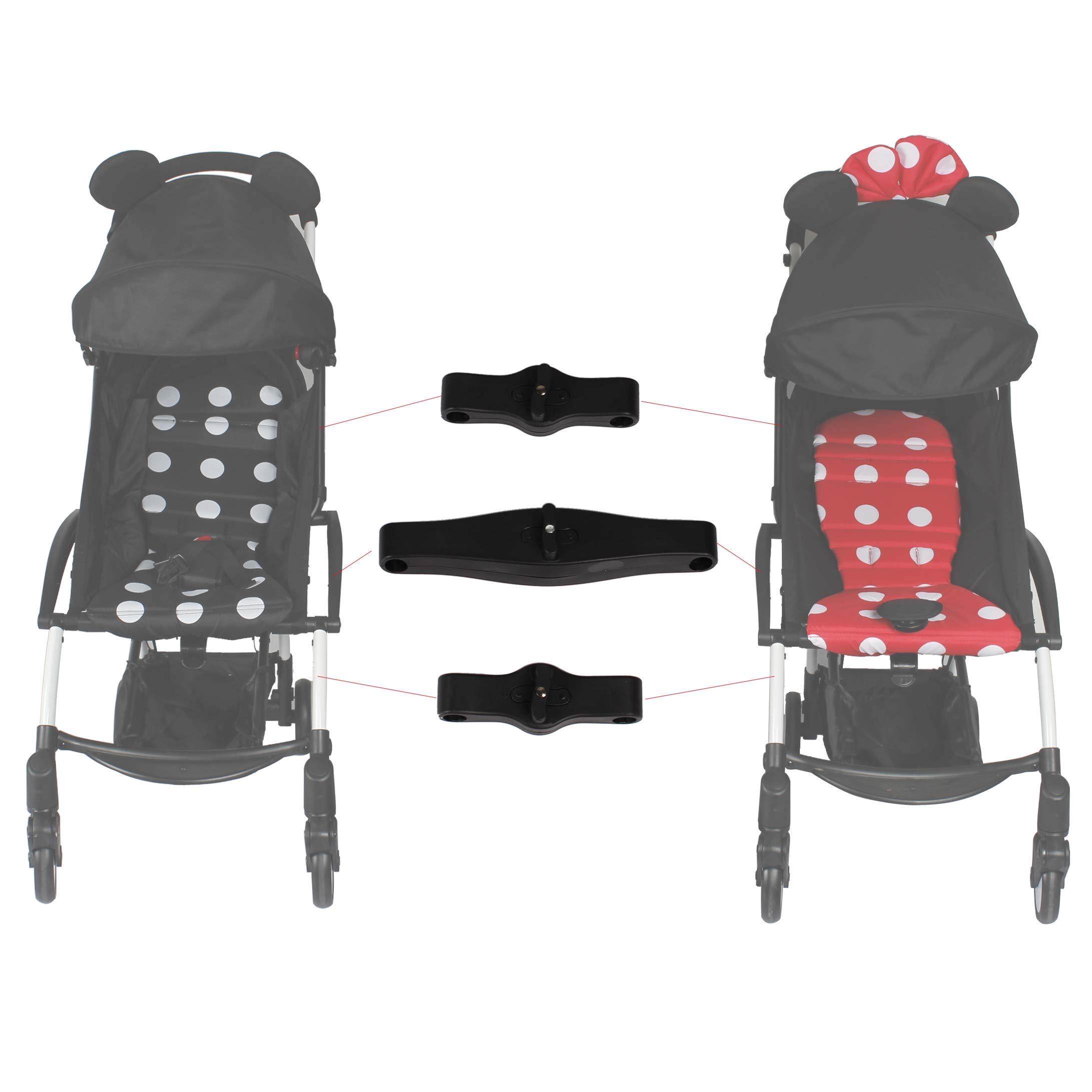 Stroller Connectors for Babyzen YOYO YOYO+ Strollers,Turns Two Single Strollers into a Double Stroller by ROMIRUS
